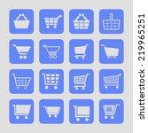 cart icon set | Shutterstock .eps vector #219965251