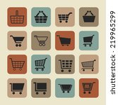 cart icon set | Shutterstock .eps vector #219965299