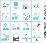 business management icons set ... | Shutterstock .eps vector #219966847