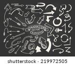hand drawn vector arrows | Shutterstock .eps vector #219972505
