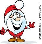 funny santa claus isolated on... | Shutterstock .eps vector #219980347