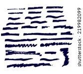 dark color vintage marker ink...   Shutterstock .eps vector #219982099
