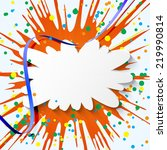 abstract vector colorful... | Shutterstock .eps vector #219990814