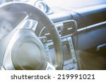 steering wheel in interior of... | Shutterstock . vector #219991021