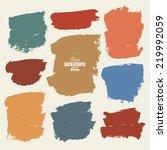 brush strokes   set   isolated... | Shutterstock .eps vector #219992059