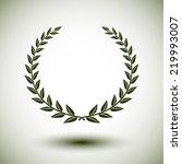 green laurel wreath on white... | Shutterstock .eps vector #219993007
