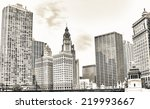 chicago. beautiful city skyline ... | Shutterstock . vector #219993667