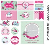 scrapbook design elements  ... | Shutterstock .eps vector #220002307