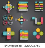 collection of infographic... | Shutterstock .eps vector #220002757