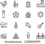 portugal icons | Shutterstock .eps vector #220004995