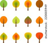multicolored isolated fall...   Shutterstock .eps vector #220005949