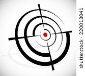 crosshair  reticle  viewfinder  ... | Shutterstock .eps vector #220013041