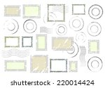 set of postal stamps and... | Shutterstock .eps vector #220014424