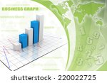 graph rising on color background | Shutterstock . vector #220022725