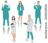 set of medical people. doctor ... | Shutterstock .eps vector #220023034