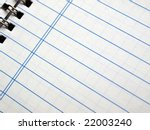 notebook note pad page | Shutterstock . vector #22003240