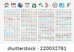 800 premium icons. round...   Shutterstock .eps vector #220032781
