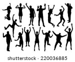 people emotions silhouettes set | Shutterstock .eps vector #220036885