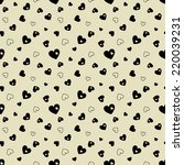 seamless pattern with black... | Shutterstock .eps vector #220039231