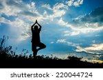 beautiful yoga boy  silhouette...
