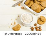 oatmeal cookie chips with... | Shutterstock . vector #220055419