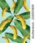 Banana Background Vector...