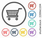 cart icon | Shutterstock .eps vector #220061104