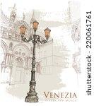 venice. piazza san marco.... | Shutterstock .eps vector #220061761