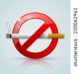 no smoking prohibition sign... | Shutterstock .eps vector #220062961
