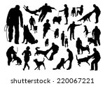 dog training silhouettes set | Shutterstock .eps vector #220067221