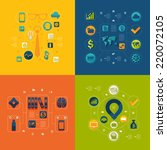 business flat infographic | Shutterstock . vector #220072105