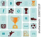 football  soccer infographic | Shutterstock . vector #220072219