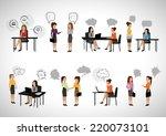 business people with speech...   Shutterstock .eps vector #220073101