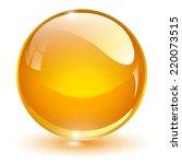 Glass Sphere  Orange Vector...