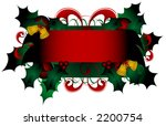 christmas banner with holly... | Shutterstock .eps vector #2200754