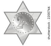 2nd place star   Shutterstock .eps vector #2200766