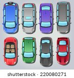 vector cars   top view | Shutterstock .eps vector #220080271