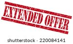 extended offer red grungy stamp ... | Shutterstock . vector #220084141