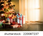 elegant christmas tree with... | Shutterstock . vector #220087237