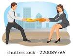 businessman and businesswoman...   Shutterstock .eps vector #220089769