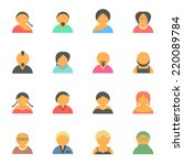 set of simple face avatar... | Shutterstock .eps vector #220089784