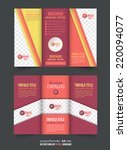 tri fold brochure and catalog... | Shutterstock .eps vector #220094077