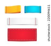 collection of five colorful...   Shutterstock . vector #220094611