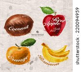 fruits. vector format | Shutterstock .eps vector #220094959