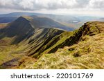 View Of The Brecon Beacons...