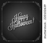 halloween movie screen vintage... | Shutterstock .eps vector #220102639