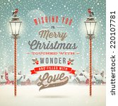 christmas greeting type design... | Shutterstock .eps vector #220107781