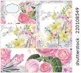 nice feminine collage... | Shutterstock . vector #220108549