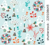 floral seamless pattern with... | Shutterstock .eps vector #220108645