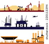 set of oil and gas energy... | Shutterstock .eps vector #220113394